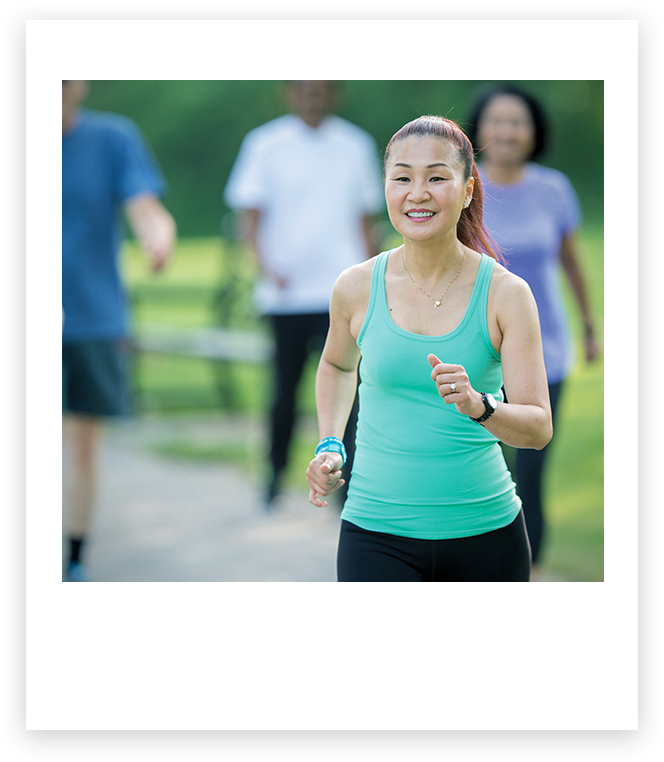 戶外跑步的女人