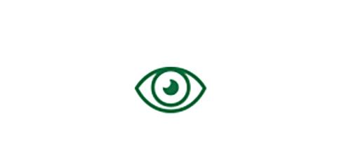 眼睛圖標指示高品質的遠距離視力
